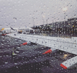 Saying goodbye to rainy England.
