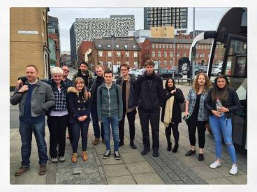 University of Sunderland's media & radio students at Charles Parker Day 2017